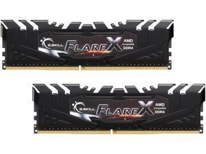 G.SKILL Flare X (for AMD) 16GB (2 x 8GB) 288-Pin DDR4 SDRAM DDR4 2400 (PC4 19200) AMD X370 / B350 / A320 Desktop Memory Model F4-2400C16D-16GFX