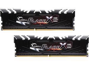 G.SKILL Flare X (for AMD) 16GB (2 x 8GB) 288-Pin DDR4 SDRAM DDR4 2400 (PC4 19200) AMD X370 / B350 / A320 Memory (Desktop Memory) Model F4-2400C15D-16GFX