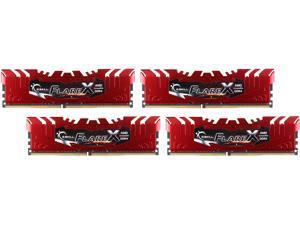 G.SKILL Flare X Series 64GB (4 x 16GB) 288-Pin DDR4 SDRAM DDR4 2400 (PC4 19200) AMD X370 / B350 / A320 Memory (Desktop Memory) Model F4-2400C15Q-64GFXR