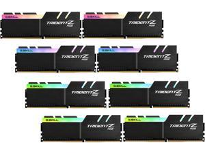 G.SKILL TridentZ RGB Series 128GB (8 x 16GB) 288-Pin DDR4 SDRAM DDR4 3200 (PC4 25600) Desktop Memory Model F4-3200C15Q2-128GTZR