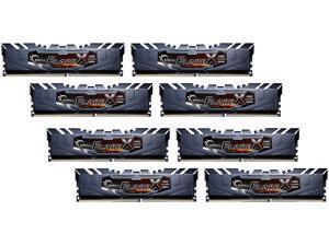 G.SKILL Flare X Series 128GB (8 x 16GB) 288-Pin DDR4 SDRAM DDR4 2400 (PC4 19200) AMD X399 Desktop Memory Model F4-2400C15Q2-128GFX