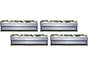 G.SKILL Sniper X Series 64GB (4 x 16GB) 288-Pin DDR4 SDRAM DDR4 3200 (PC4 25600) Intel X299 / X99 / Z370 / Z270 / Z170 Desktop Memory Model F4-3200C16Q-64GSXFB