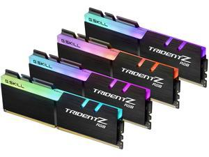 G.SKILL TridentZ RGB Series 64GB (4 x 16GB) 288-Pin DDR4 SDRAM DDR4 3200 (PC4 25600) Desktop Memory Model F4-3200C16Q-64GTZR