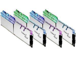 G.SKILL Trident Z Royal Series 32GB (4 x 8GB) 288-Pin RGB DDR4 SDRAM DDR4 4000 (PC4 32000) Desktop Memory Model F4-4000C17Q-32GTRS