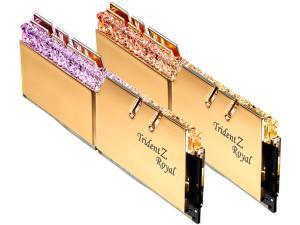 G.SKILL Trident Z Royal Series 16GB (2 x 8GB) 288-Pin RGB DDR4 SDRAM DDR4 3200 (PC4 25600) Desktop Memory Model F4-3200C16D-16GTRG