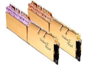 G.SKILL Trident Z Royal Series 32GB (2 x 16GB) 288-Pin RGB DDR4 SDRAM DDR4 3200 (PC4 25600) Desktop Memory Model F4-3200C14D-32GTRG