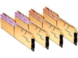 G.SKILL Trident Z Royal Series 64GB (4 x 16GB) 288-Pin RGB DDR4 SDRAM DDR4 3200 (PC4 25600) Desktop Memory Model F4-3200C14Q-64GTRG