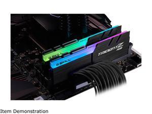 G.SKILL TridentZ RGB Series 16GB (2 x 8GB) 288-Pin DDR4 SDRAM DDR4 3600 (PC4 28800) Desktop Memory Model F4-3600C16D-16GTZRC