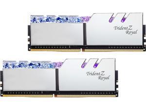 G.SKILL Trident Z Royal Series 64GB (2 x 32GB) 288-Pin DDR4 SDRAM DDR4 3200 (PC4 25600) Desktop Memory Model F4-3200C16D-64GTRS