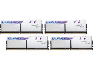 G.SKILL Trident Z Royal Series 128GB (4 x 32GB) 288-Pin DDR4 SDRAM DDR4 3200 (PC4 25600) Desktop Memory Model F4-3200C16Q-128GTRS