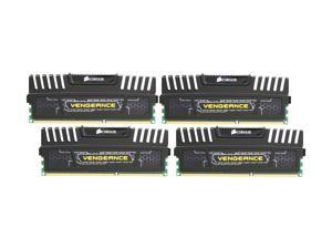 CORSAIR Vengeance 16GB (4 x 4GB) 240-Pin DDR3 SDRAM DDR3 1600 (PC3 12800) Desktop Memory Model CMZ16GX3M4A1600C9