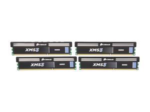 CORSAIR XMS3 16GB (4 x 4GB) 240-Pin DDR3 SDRAM DDR3 1333 (PC3 10600) Desktop Memory Model CMX16GX3M4A1333C9