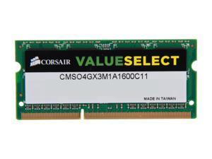 CORSAIR ValueSelect 4GB 204-Pin DDR3 SO-DIMM DDR3 1600 (PC3 12800) Laptop Memory Model CMSO4GX3M1A1600C11