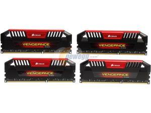 CORSAIR Vengeance Pro 32GB (4 x 8GB) 240-Pin DDR3 SDRAM DDR3 1600 (PC3 12800) Desktop Memory Model CMY32GX3M4A1600C9R (Red)