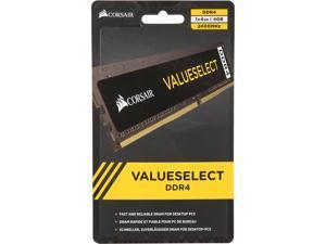 CORSAIR ValueSelect 4GB 288-Pin DDR4 SDRAM DDR4 2400 (PC4 19200) Desktop Memory - Intel 7th Gen and AMD Ryzen Model CMV4GX4M1A2400C16