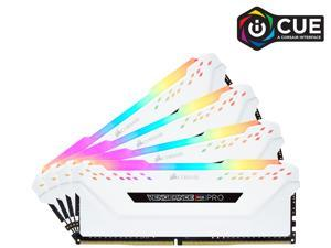 CORSAIR Vengeance RGB Pro 32GB (4 x 8GB) 288-Pin DDR4 DRAM DDR4 3200 (PC4 25600) Desktop Memory Model CMW32GX4M4C3200C16W