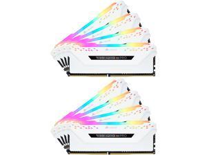 CORSAIR Vengeance RGB Pro 128GB (8 x 16GB) 288-Pin DDR4 SDRAM DDR4 2666 (PC4 21300) Desktop Memory Model CMW128GX4M8A2666C16W