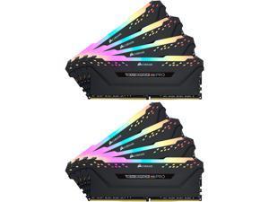 CORSAIR Vengeance RGB Pro 128GB (8 x 16GB) 288-Pin DDR4 SDRAM DDR4 3200 (PC4 25600) Desktop Memory Model CMW128GX4M8C3200C16