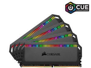 CORSAIR Dominator Platinum RGB 64GB (4 x 16GB) DDR4 3600 (PC4 28800) Desktop Memory Model CMT64GX4M4K3600C18