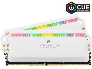 CORSAIR Dominator Platinum RGB 16GB (2 x 8GB) 288-Pin DDR4 SDRAM DDR4 3200 (PC4 25600) Desktop Memory Model CMT16GX4M2Z3200C16W