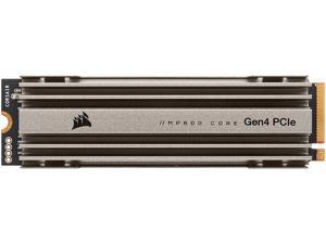 Corsair MP600 Core M.2 2280 2TB PCIe Gen 4.0 x4, NVMe 1.3 3D QLC Internal Solid State Drive (SSD) CSSD-F2000GBMP600COR