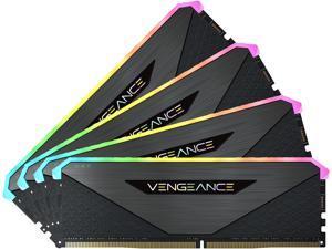 CORSAIR Vengeance RGB RT 64GB (4 x 16GB) 288-Pin DDR4 SDRAM DDR4 3600 (PC4 28800) AMD Optimized Desktop Memory Model CMN64GX4M4Z3600C18
