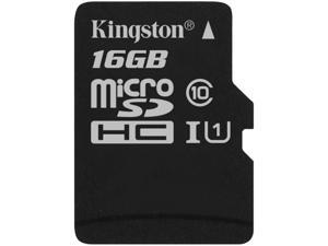 Kingston 16GB  MicroSDHC UHS-I/U1 Class 10 Memory Card with Adapter (SDC10G2/16GB)
