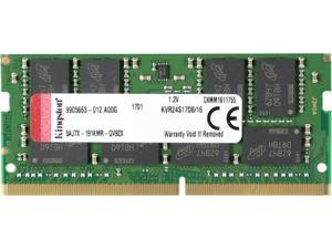 Kingston ValueRAM 16GB 2400MHz DDR4 Non-ECC CL17 SODIMM 2Rx8 (Notebook Memory) KVR24S17D8/16