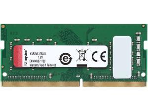 Kingston ValueRAM 8GB 2400MHz DDR4 Non-ECC CL17 SODIMM 1Rx8 (Notebook Memory) KVR24S17S8/8