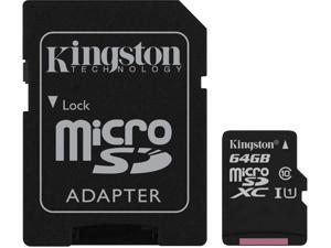 Kingston Canvas Select Plus 64GB microSDXC Flash Card w/ Adapter Model SDCS2/64GBCR