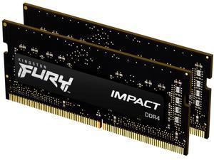 Kingston FURY Impact 16GB (2 x 8GB) 260-Pin DDR4 SO-DIMM DDR4 3200 (PC4 25600) Laptop Memory Model KF432S20IBK2/16