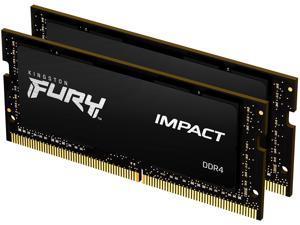 Kingston FURY Impact 32GB (2 x 16GB) 260-Pin DDR4 SO-DIMM DDR4 3200 (PC4 25600) Laptop Memory Model KF432S20IB1K2/32