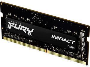 Kingston Fury Impact 16GB 260-Pin DDR4 SO-DIMM DDR4 2666 (PC4 21300) Laptop Memory Model KF426S15IB1/16