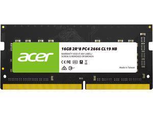Acer SD100 16GB 260-Pin DDR4 SO-DIMM DDR4 2666 (PC4 21300) Laptop Memory Model BL.9BWWA.210
