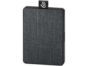 Seagate One Touch SSD 500GB USB 3.0 External / Portable Solid State Drive for PC Laptop and Mac - Black (STJE500400)