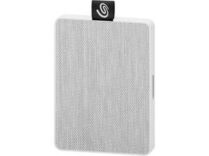 Seagate One Touch SSD 500GB USB 3.0 External / Portable Solid State Drive for PC Laptop and Mac - White (STJE500402)