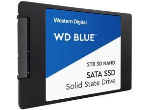 """WD Blue 3D NAND 2TB Internal SSD - SATA III 6Gb/s 2.5""""/7mm Solid State Drive - WDS200T2B0A"""