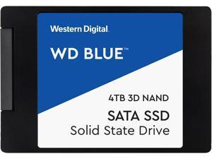 """Western Digital Blue 2.5"""" 4TB SATA III 3D NAND Internal Solid State Drive (SSD) WDS400T2B0A"""