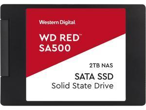 """Western Digital Red SA500 2.5"""" 2TB SATA III 3D NAND Internal Solid State Drive (SSD) WDS200T1R0A"""