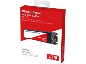 Western Digital WD Red SA500 M.2 2280 2TB SATA III 3D NAND Internal Solid State Drive (SSD) WDS200T1R0B