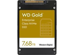 "Western Digital Gold WDS768T1D0D 2.5"" U.2 7.68TB PCI-Express 3.1 x4, NVMe 1.3 Enterprise Solid State Drive"