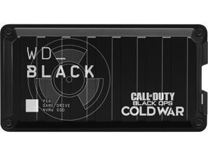 WD BLACK 1TB P50 Portable Solid State Drive, Call of Duty: Black Ops Cold War Special Edition, USB 3.2 GEN 2x2, USB-C Game Drive NVMe SSD, WDBAZX0010BBK-WESN