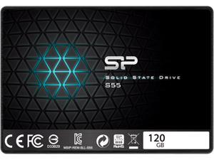 """Silicon Power S55 120GB 2.5"""" 7mm SATA III Internal Solid State Drive SP120GBSS3S55S25AE"""