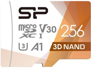 Silicon Power 256GB Superior Pro microSDXC UHS-I (U3), V30 4K A1 Memory Card with Adapter (SU256GBSTXDU3V20AC)