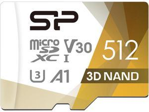 Silicon Power 512GB Superior Pro microSDXC UHS-I (U3), V30 4K A1 Memory Card with Adapter (SU512GBSTXDU3V20AC)
