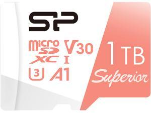 Silicon Power 1TB Superior microSDXC UHS-I (U3), V30 4K A1 Memory Card with Adapter (SP001TBSTXDV3V20SP)