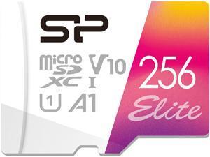 Silicon Power 256GB Elite microSDXC UHS-I (U1), V10 A1 Memory Card with Adapter (SU256GBSTXBV1V20AB)