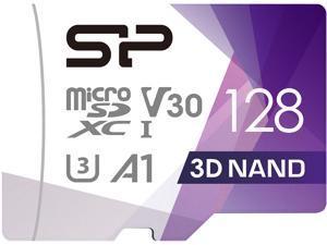 Silicon Power Superior Pro 128GB microSDXC Flash Card with Adapter Model SU128GBSTXDU3V20AD
