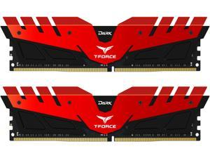 Team T-Force DARK 16GB (2 x 8GB) 288-Pin DDR4 SDRAM DDR4 2400 (PC4 19200) Desktop Memory Model TDRED416G2400HC14DC01