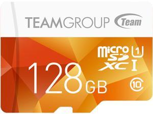Team Group 128GB Color microSDXC UHS-I/U1 Class 10 Memory Card with Adapter, Speed Up to 80MB/s (TCUSDX128GUHS42)